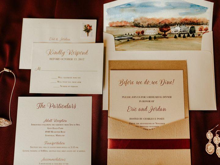 Tmx 1528912201 A560ffc5d721233a 1528912199 D77f6d79948a6bae 1528912154659 1 E J 23 Severna Park, Maryland wedding invitation