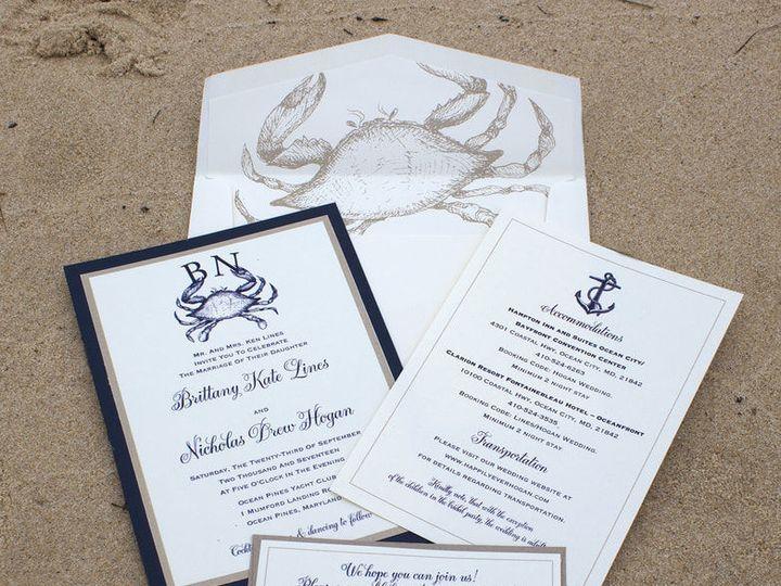 Tmx 1530116273 1e99db199d356948 1530116272 8ecfaa160447c5fc 1530116260586 5 Linessm Orig Severna Park, Maryland wedding invitation
