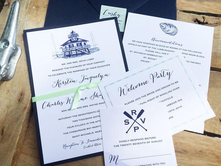 Tmx 1530116368 889d2231690c5dd6 1530116367 Cdf26abe366198b7 1530116356157 2 LusbyInv300 Severna Park, Maryland wedding invitation