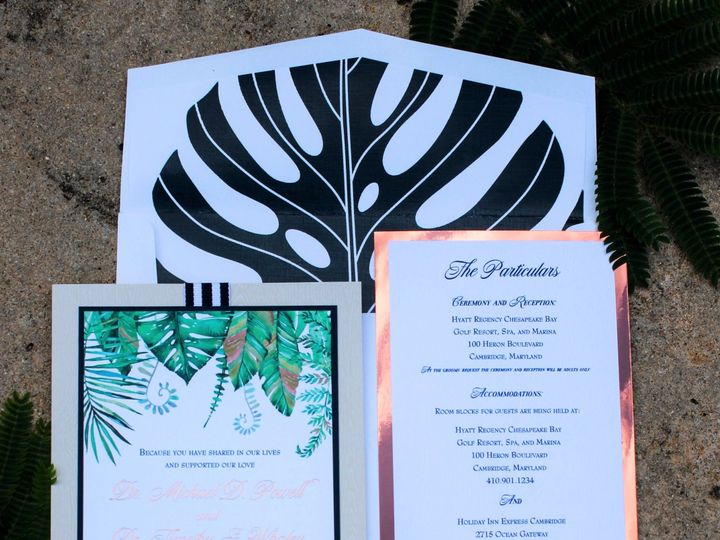 Tmx 1534956275 239259016b909d9e 1534956274 Af2a862bc0107751 1534956269863 2 IMG 2834 Severna Park, Maryland wedding invitation