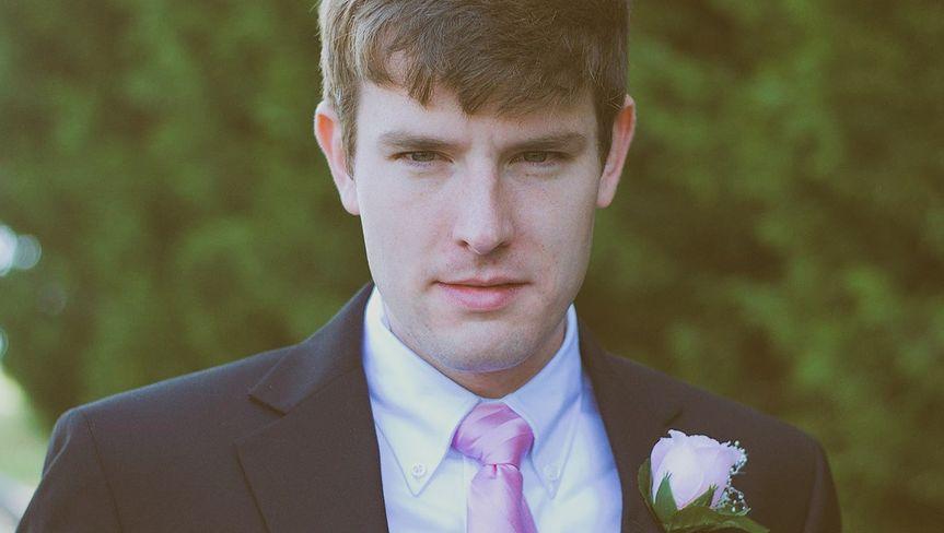 Portrait of groomsman