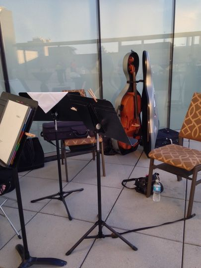 The Corridor Quartet enjoyed a nice evening on the terrasse of Hotel Vetro performing for a Women...
