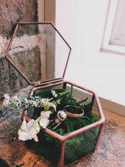 Rustic floral display