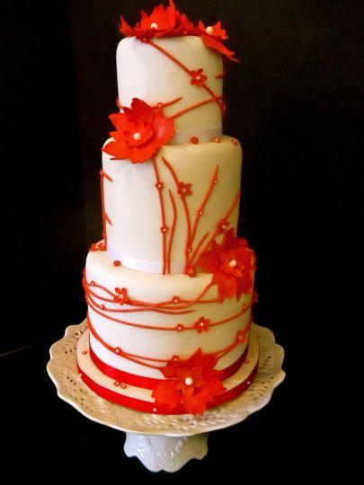red white cake