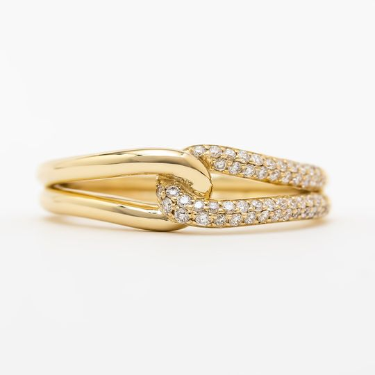 14k yellow gold pave diamonds