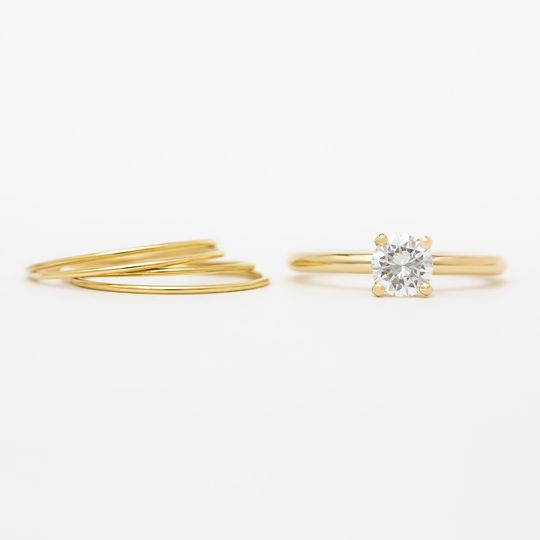 14k yellow gold & diamond
