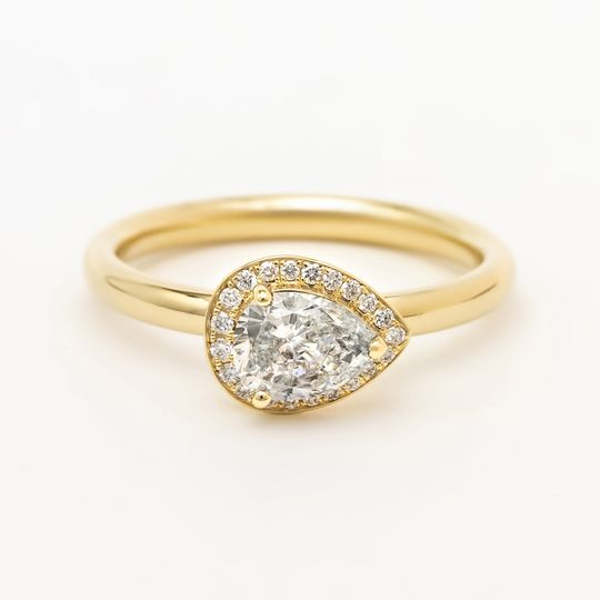 14k yellow gold & diamonds