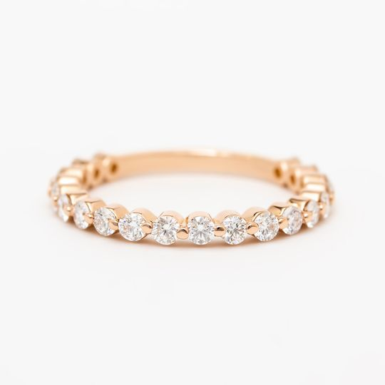 14k rose gold & diamond