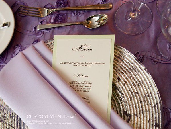 Dinner Menu Card from Brenna Catalano Design Studio. Colors and format can be customized.