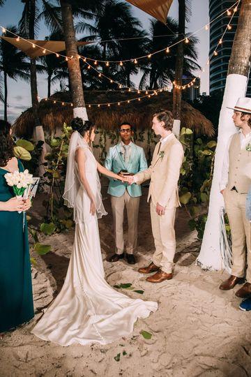 Tiki Hut Wedding