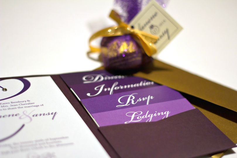 Eggplant & Gold Wedding