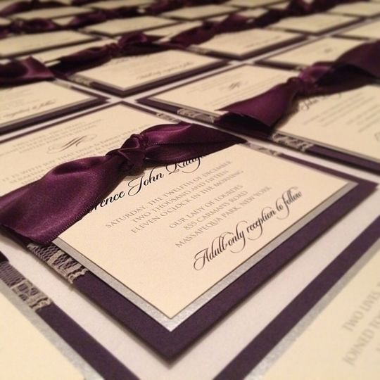 Eggplant & Silver Wedding