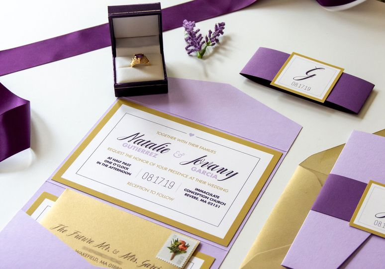 Lavender & Gold Leaf Wedding