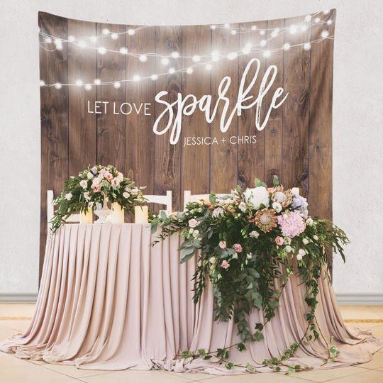 Let love sparkle backdrop
