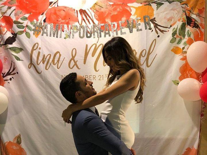 Tmx Floral Couple Backdrop 51 1048529 Trumbull, CT wedding favor