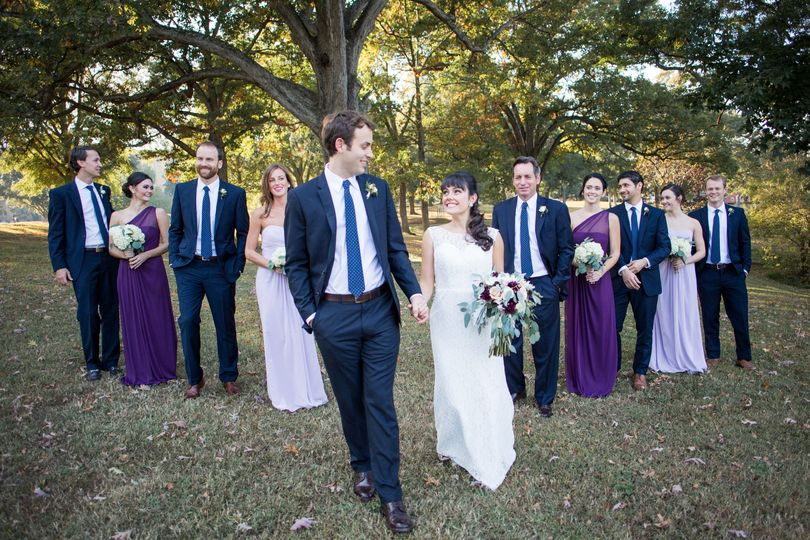 Wedding party |  Photo by Blue Barn Photography