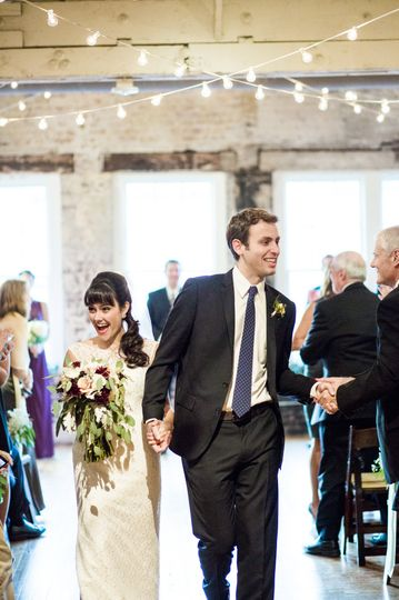 Wedding recession | Photo by Blue Barn Photography
