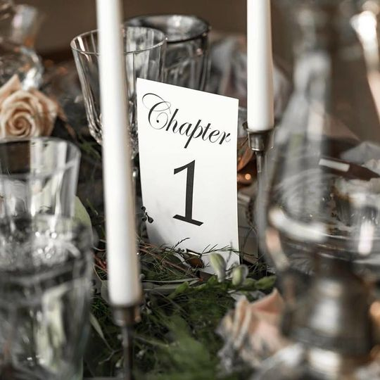 We have a variety of unique table numbers available.