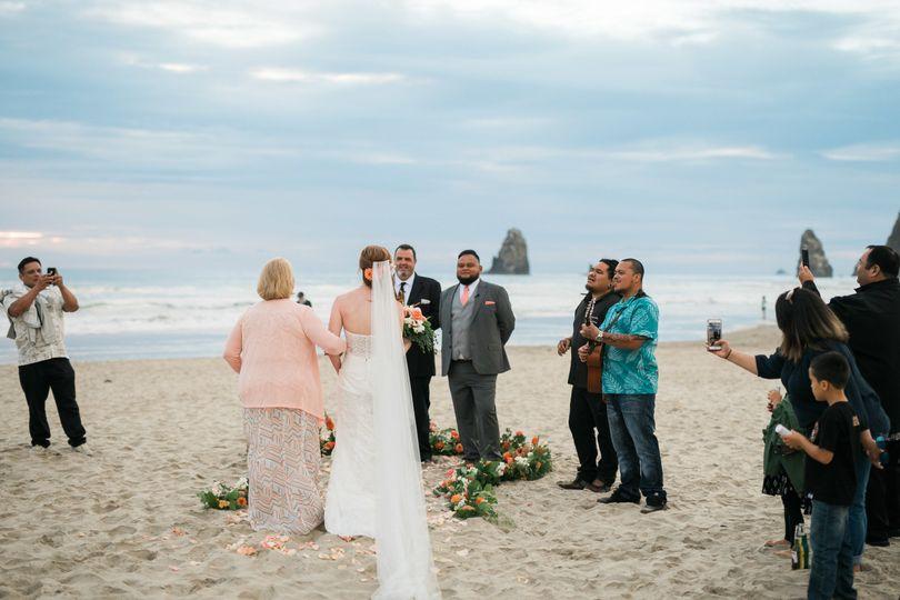 Canon beach elopement