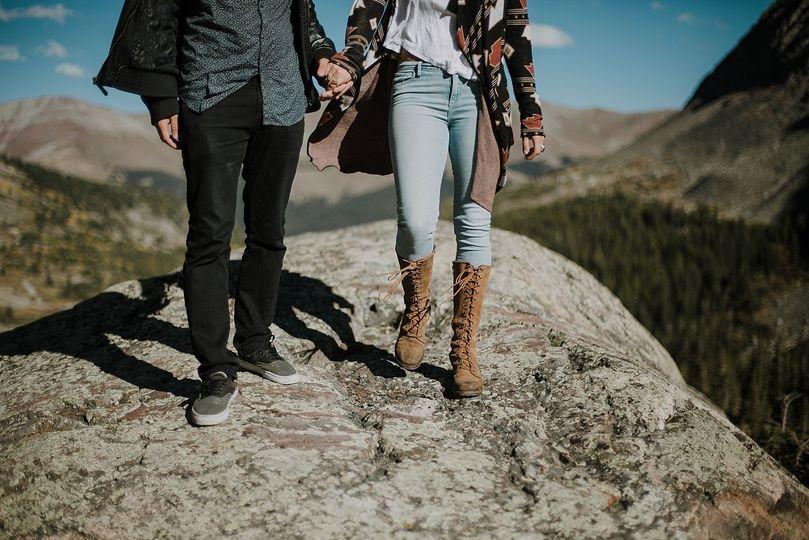 Adventurous Hiking Engagement Session in Breckenridge, Colorado