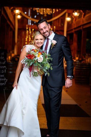 Barn Wedding Couple