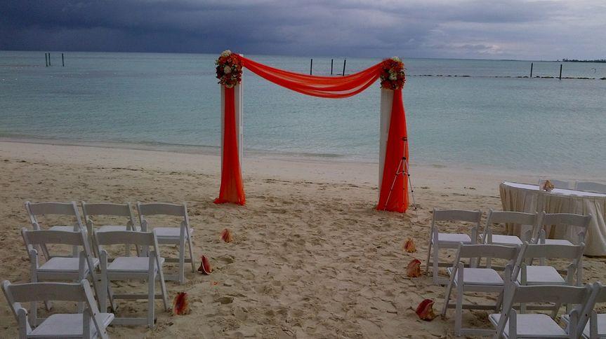 Red wedding sheers