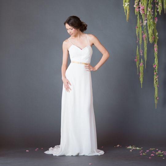 front silk celia grace eco fair trade wedding