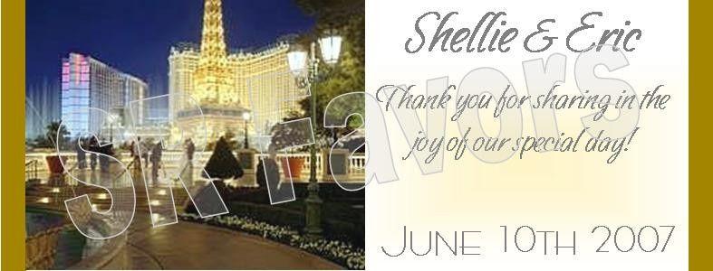 Las Vegas Destination Wedding! Order now at www.srfavors.com design W95
