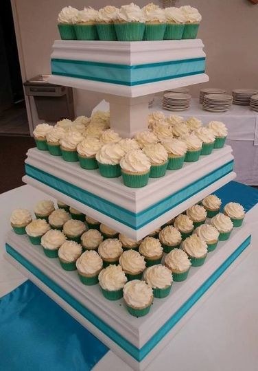 Cupcake Wedding Display (shown on our 3-tier wooden display, which is available for rental).