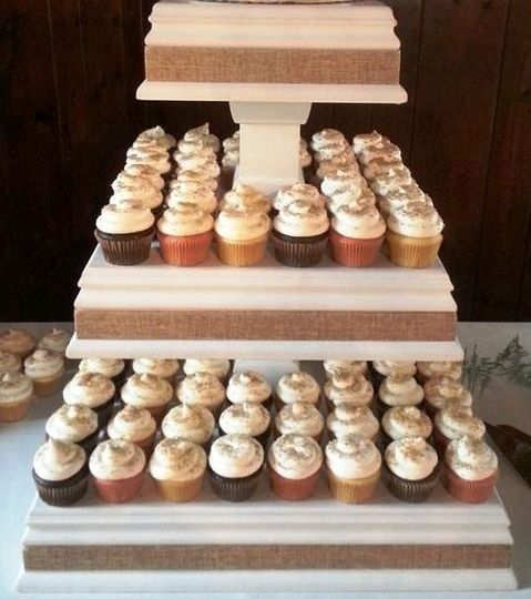 Cupcake Wedding Display (this display is also available for rental)