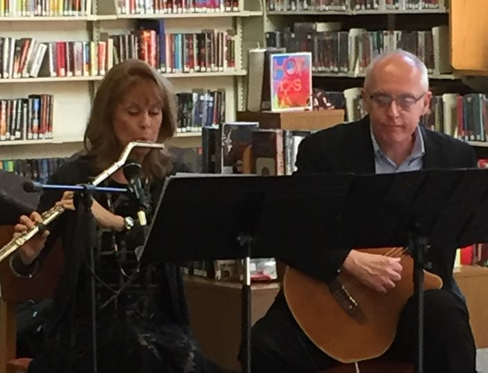 Library concert with Debra