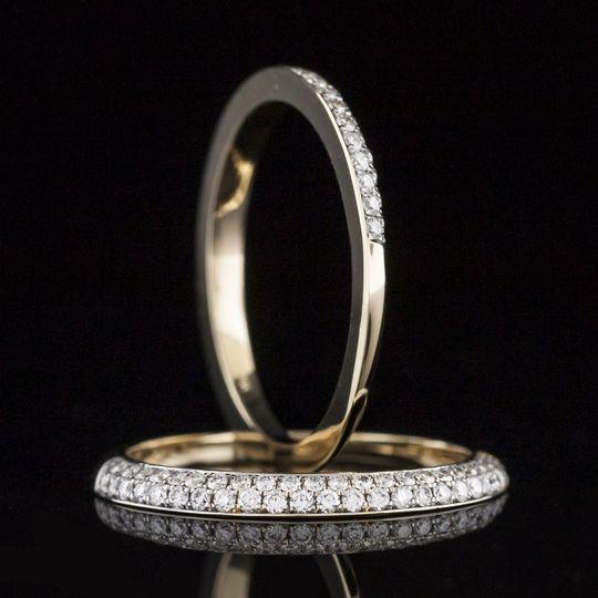 Split band wedding ring