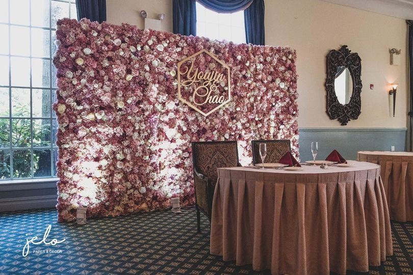 Vintage flower wall
