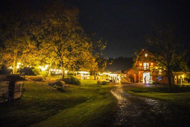 A nighttime fairy land