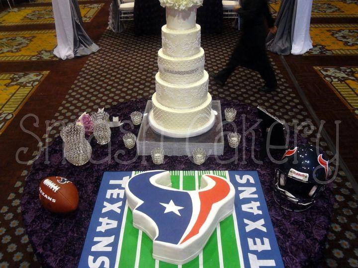 Tmx 1378750716881 Texansfieldgroomscake Spring wedding cake