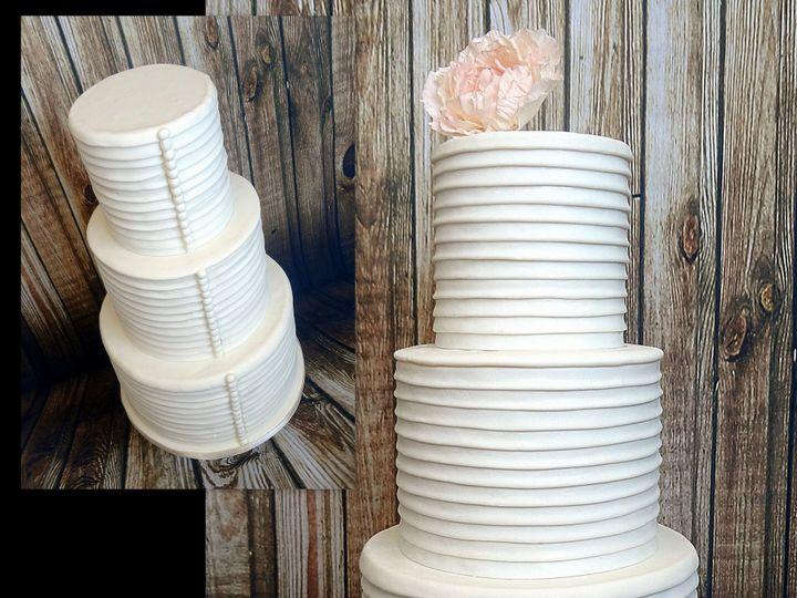 Tmx 1429503280378 Pleatsandbuttons Spring wedding cake