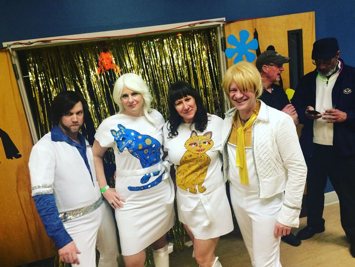 Abba night costume winners