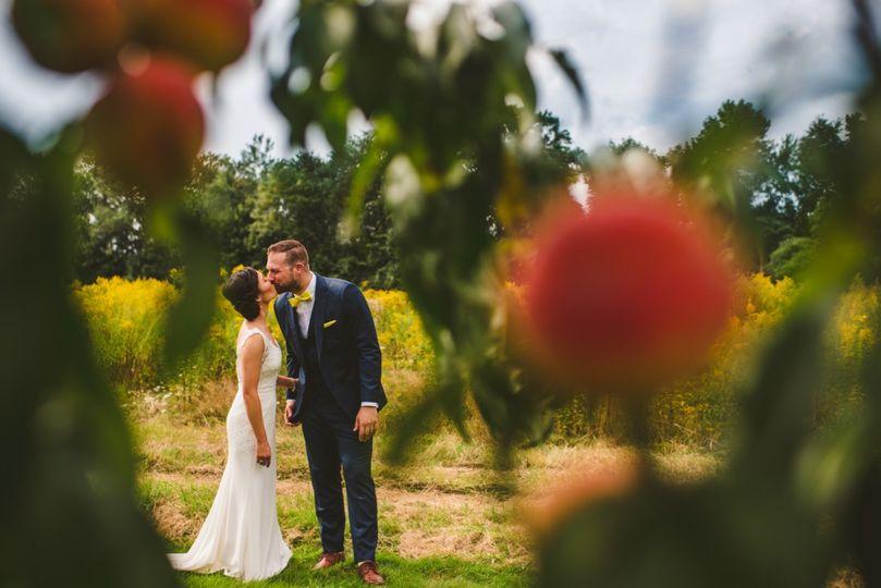 Kiss through peaches