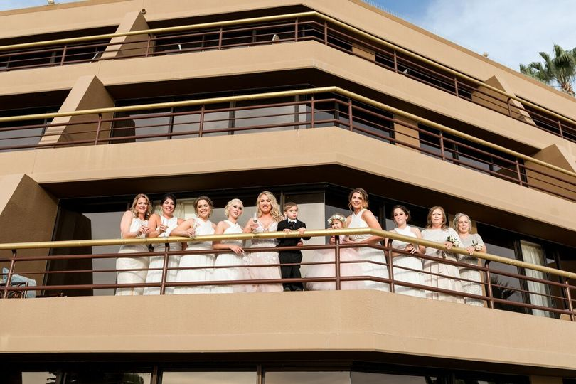 Bridal Party in Suite