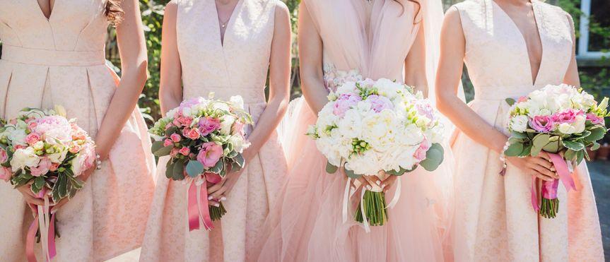 pink bridemaid dresses