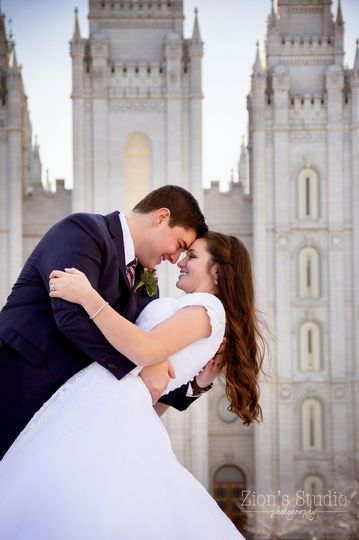 A Frosty February Wedding at the Salt Lake Temple!