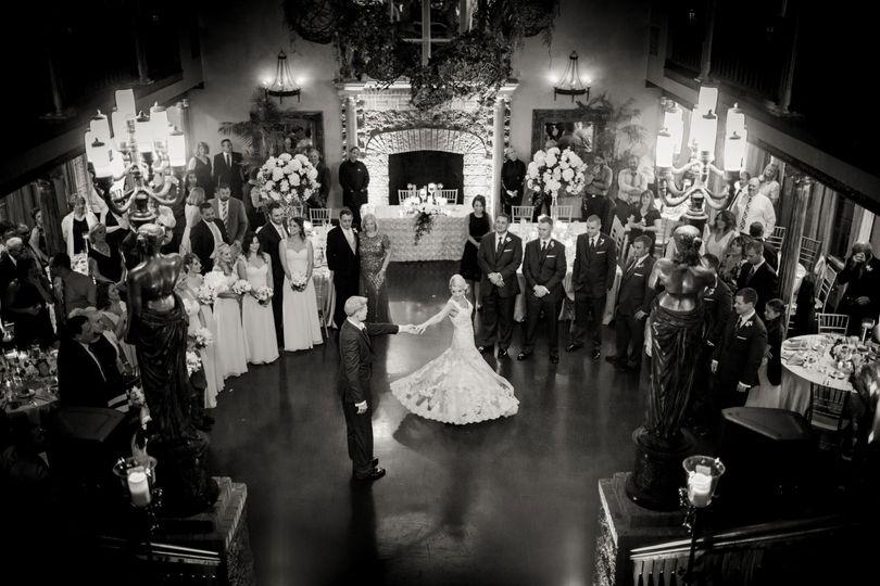 barclay villa wedding photographer first dance 1