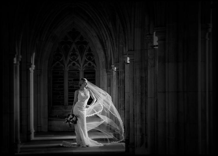 Duke Chapel Bridal Photo