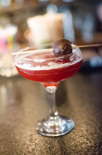 Rum chocolate cocktail