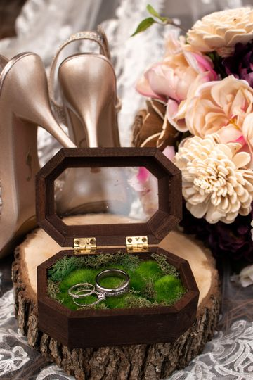 Flowers, shoes, and rings