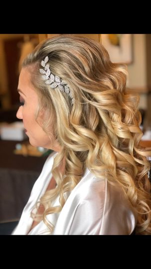 Bridal down style