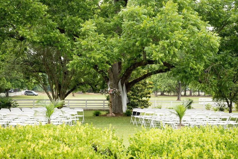 Scenic wedding setting