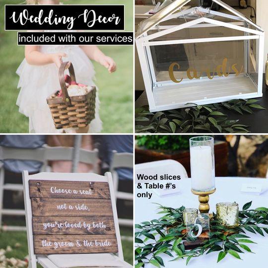 Wedding Decor included