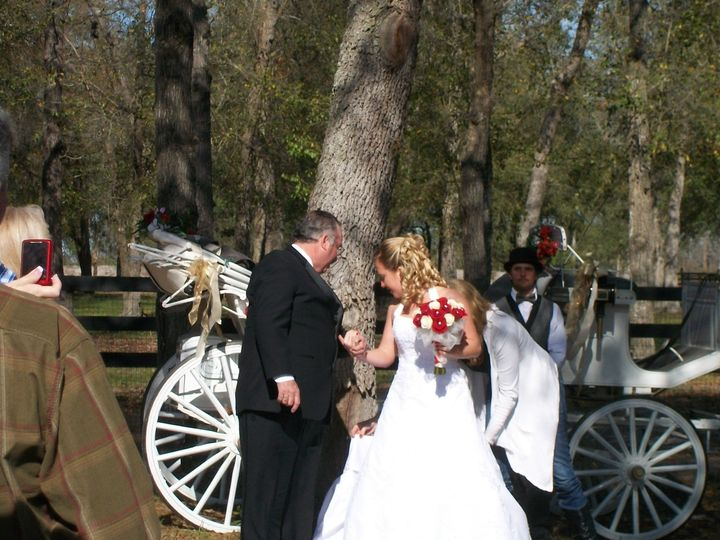 You can arrive in a horse and carriage to the ceremony!