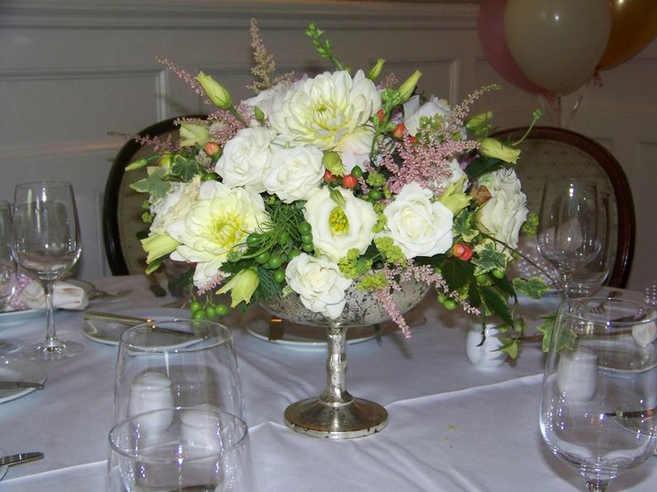 Tmx 1455052654147 Silver Pedestal Vase Redding, CT wedding florist